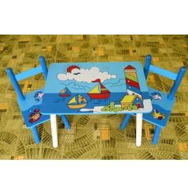 Masuta Copii cu scaunele Barcute