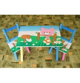 Masuta Copii cu scaunele Teddy Bear