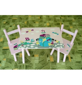 Masuta Copii cu scaunele Little Girls