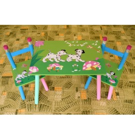 Masuta Copii cu scaunele Catelusi Dalmatieni