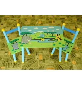 Masuta Copii cu scaunele Animale in Savana