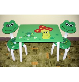 Masuta Copii cu scaunele Broscuta