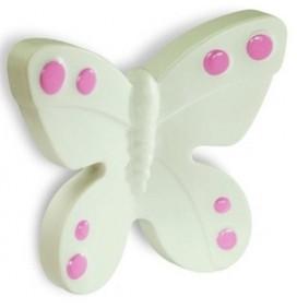 Butoni Mobila Fluture Alb