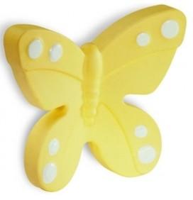 Butoni Mobila Fluture Galben