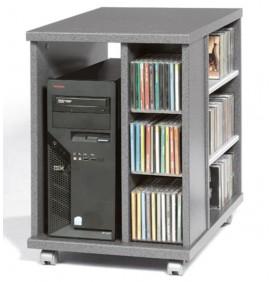 Suport Mobil Unitate Calculator cu Rafturi CD