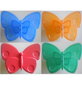 Butoni Plastic Fluture Albastru, Portocaliu, Rosu, Verde